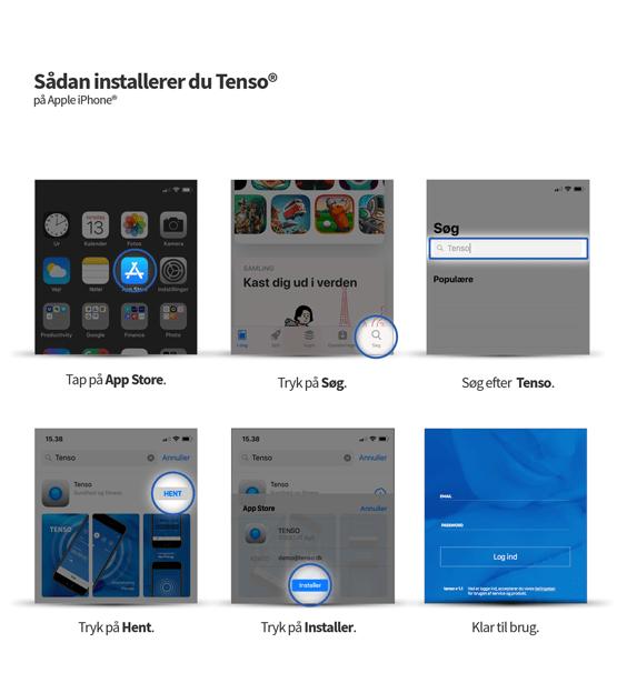 Guide til installation af Tenso på App Store