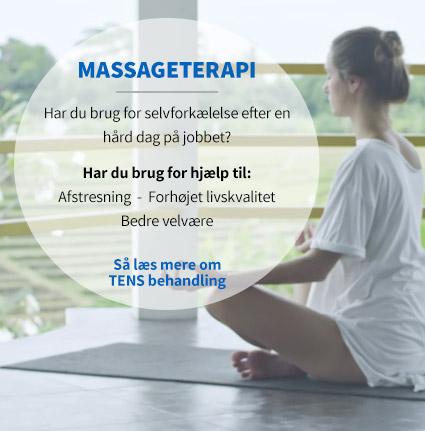 Massageterapi med TENSO når du har brug for lidt selvforkælelse.