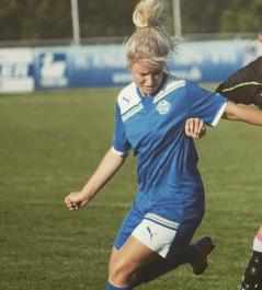 Sportsudøver Michella Østergaard har testet TENSO til hendes ømme muskler