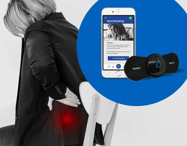 TENSO - giver dig mulighed for mobil TENS behandling, den kan tages med overalt og styres fra din mobil
